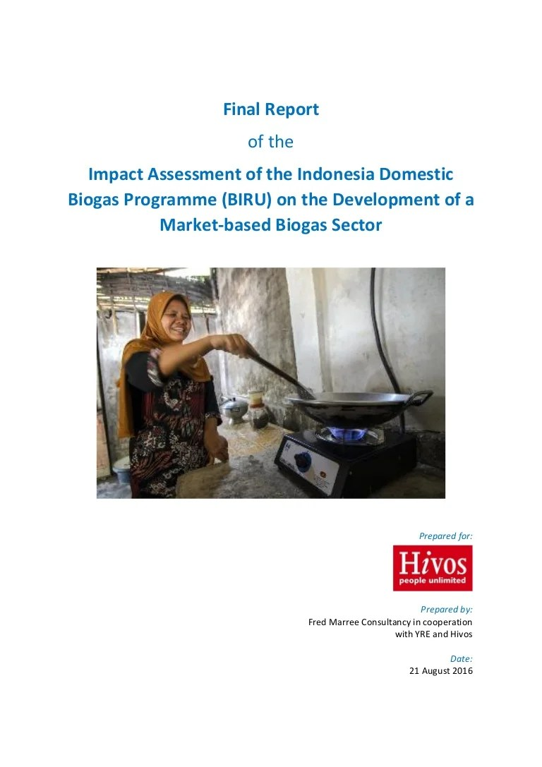 Biaya Dak Rumah Per Meter 2017 Report Of The Impact Assessment Of The Indonesia Domestic Biogas Prog
